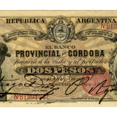 Billete de dos pesos