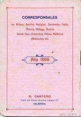 Folleto de productos enológicos para vinos, licores, aceites y jarabes. Casa R. Cantero. (Valencia). 1906