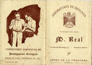 Nota de precios del Laboratorio de Enología de Jerez de la Frontera (Cádiz)