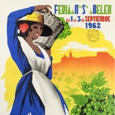 Cartel anunciador de la VII Feria del Vino y de Ntra. Sra. de Belén (Montilla)