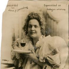 Retrato con vino