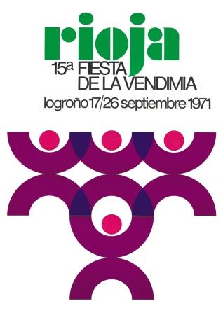Cartel anunciador de la XV Fiesta de la Vendimia Riojana (Logroño)