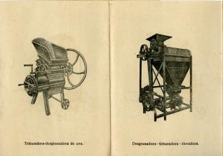 Folleto comercial de maquinaria para industria vinícola y oleíca. Marrodán y Rezola, S.L.