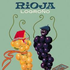 Cartel anunciador de la IX Fiesta de la Vendimia Riojana (Logroño)