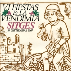 Cartel de la VI Fiestas de la Vendimia de Sitges