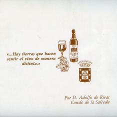 Folleto publicitario. Viña Salceda. El Ciego. La Rioja.