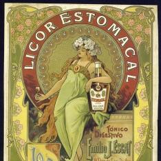 Cartel publicitario de Tónico digestivo -  Emilio J.Escat