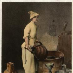Limpieza de recipientes para vino