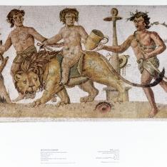 Reproducción de mosaico (Dionisio de niño)
