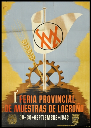 Cartel anunciador de la I Feria Provincial de muestras de Logroño