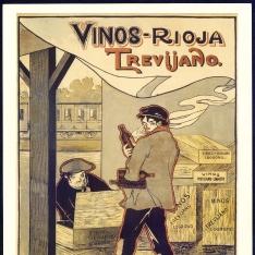 Cartel publicitario de Vinos Trevijano