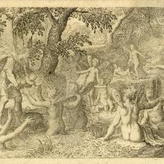Baco es entregado a las ninfas de Nisia