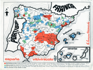 Mapa de la España Vitivinícola