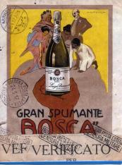 Reproducción del cartel del Gran Spumante Bosca sec, de Bodegas Luigi Bosca (Canelli, Italia). [ca. 1917]