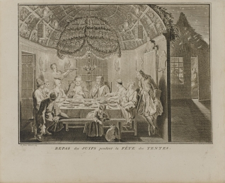 Comida de Judíos durante la fiesta del Sukkot o de las cabañas