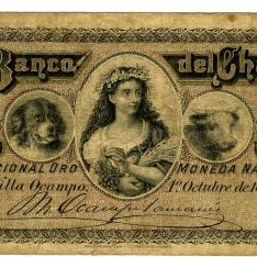 Billete de un peso oro