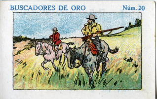"""Colección de veinticuatro cromos. Serie """"Buscadores de oro"""". """"Piazuelo"""" (Logroño)"""