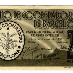 Billete de dos pesetas y cincuenta céntimos