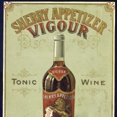 Cartel publicitario de Manuel Fernández - Tonic wine