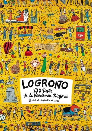 Cartel anunciador de la XXX Fiesta de la Vendimia Riojana (Logroño)