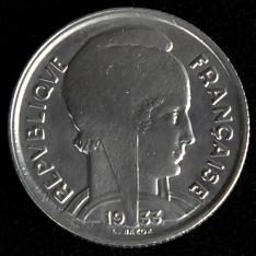 Moneda de cinco francos (dos monedas)