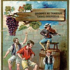 Tarjeta comercial. Chicorée Tambour de Casiez-Bourgeois. Francia