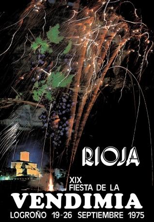 Cartel anunciador de la XIX Fiesta de la Vendimia Riojana (Logroño)