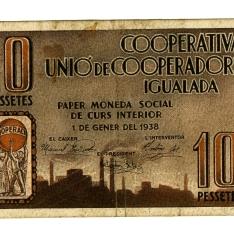 Billete de diez pesetas