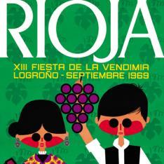 Cartel anunciador de la XIII Fiesta de la Vendimia Riojana (Logroño)