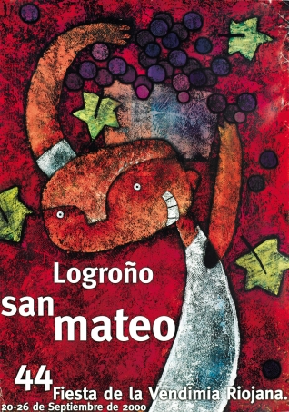 Cartel anunciador de la XLIV Fiesta de la Vendimia Riojana (Logroño)