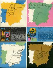 Folleto turístico de La Rioja en español. 1962