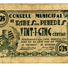 Billete de veinticinco céntimos