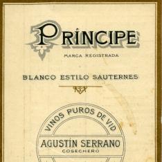 Nota de precios de productos Cosechero Agustín Serrano, Manzanares, Ciudad Real