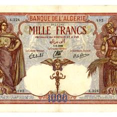 Billete de mil francos