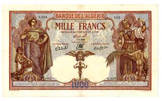 Billete de mil francos