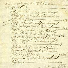 Cuentas - 1695