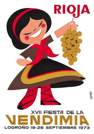 Cartel anunciador de la XVII Fiesta de la Vendimia Riojana (Logroño)