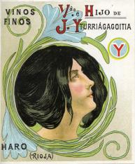 """Listado de precios. Bodega """"Vda. e Hijo de J. Yturriágagoitia"""". Haro"""