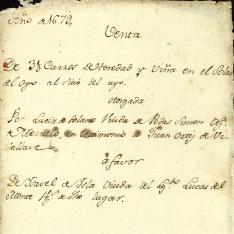 Ventas - 1679, febrero, 18. Valle de Meruelo (Cantabria)