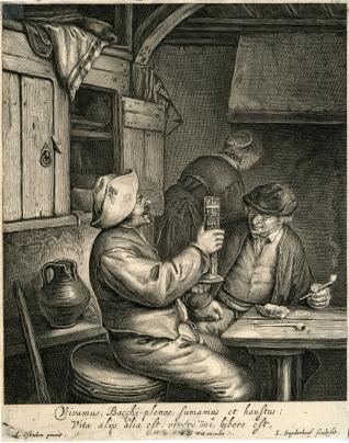 Interior de la cabaña de un campesino
