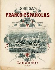 Listado de precios. Bodegas Franco-Españolas, S.A. Logroño. La Rioja