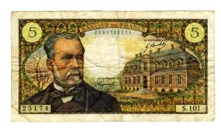 Billete de cinco francos