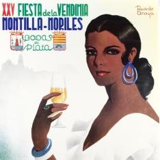 Cartel anunciador de la Fiesta de la Vendimia Montilla-Moriles