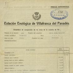 Informes - 1929, marzo, 8. Villafranca del Panadés (Barcelona)