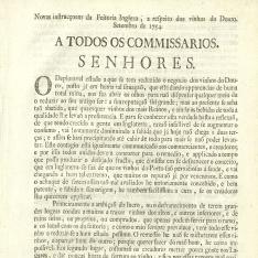 Correspondencia - 1754, septiembre. Oporto - Cima do Douro (Portugal)