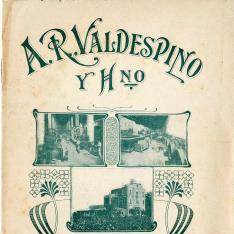 Listado de precios. Bodega A.R. Valdespino y Hno. Jerez de la Frontera. 1921