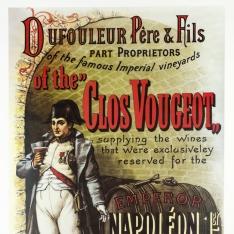 """Reproducción de cartel de """"Clos Vougeot"""""""