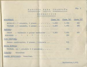 Todo para el champañista : lista de precios. D. Brugués Gorgot. Barcelona. 1963