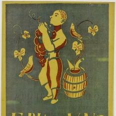 Cartel anunciador de la Feria del vino