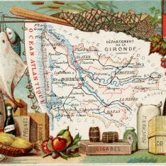 Cromo. Productos de la región de Gironde. Francia